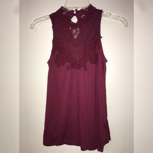 Tops - Lace halter blouse